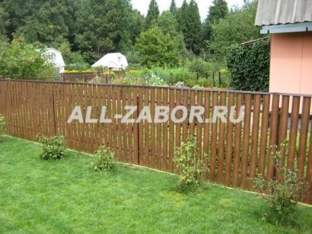 Дачный забор из металлического штакетника